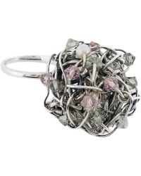 Rachel Helen Designs - Sterling Silver Mesh Ring - Lyst