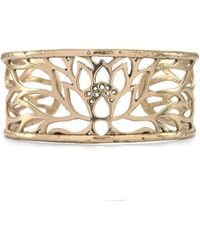House of Alaia - Lotus Cuff Bracelet In Bronze - Lyst