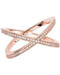 Alexa Leigh - Rose Gold Pave Tryst Ring - Lyst