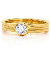 LJD Designs Waterfall Wedding-engagement Ring - Metallic