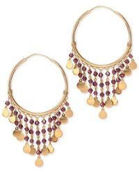 Mara Hotung 18kt Yellow Gold Gypsy Garnet Earrings - Red