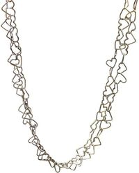 Anna Moltke-Huitfeldt - Chain Of Hearts Necklace - Lyst