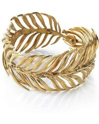 Serena Fox - Palm Gold Vermeil Bracelet - Lyst