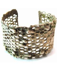 Private Opening - Honeycomb Oxidized Silver Cuff - Lyst