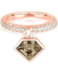 Julie Lamb Metropolis Rose Gold Power Ring - Metallic