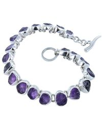 Reeves and Reeves - Rough Stone Amethyst Bracelet - Lyst