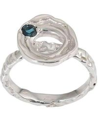 Corinne Hamak - Distortion Blue Tourmaline Flower Ring - Lyst