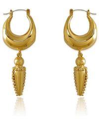 Carou 14kt Gold Plated Mini Mayacamas Earrings - Metallic
