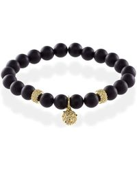 MARCOS DE ANDRADE - Spike Onyx Bracelet With 18kt Gold - Lyst
