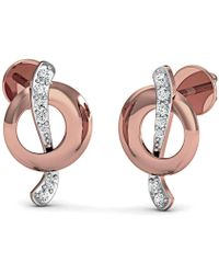 Diamoire Jewels Classic Pave Stud Earrings in 18kt Rose Gold o7pbTFtJn