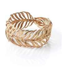 Serena Fox - Palm Rose Gold Vermeil Bracelet - Lyst