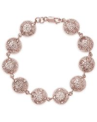 Lily Blanche Rose Gold Plated Sterling Silver Memory Keeper Bracelet - Metallic