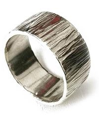 Lexi Cannon Jewellery - Sterling Silver Beautiful Textured Ring - Lyst