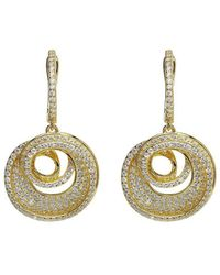 Lustre of London - Yellow Spiral Drop Earrings - Lyst