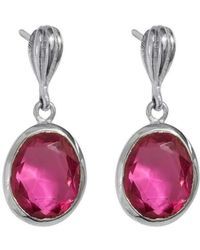Juvi Designs - Baja Silver Earring With Pink Tourmaline - Lyst