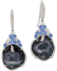 Rina Limor - Blue Druzy And Sapphire Gemstone Earrings - Lyst