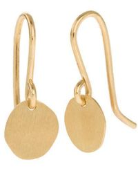 Corinne Hamak Yellow Gold Xilitla In Plain Hook Earrings - Metallic