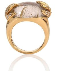 Mara Hotung 18kt Yellow Gold Aqua Ring Rutile & White Sapphire - Metallic