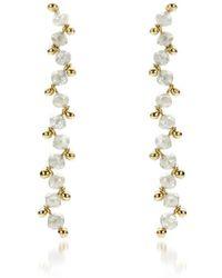 AMMA Jewelry   Growing Gold Diamong Drop Earrings   Lyst