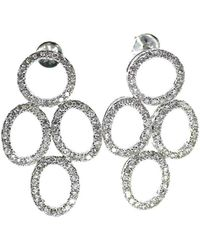 ERAYA 18kt White Gold Diamond Chandelier Earrings