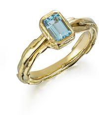 Karen Phillips Nina Aquamarine Ring - Multicolor