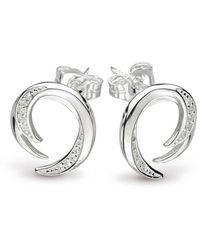 Kit Heath - Twine Helix Pave Stud Earrings - Lyst