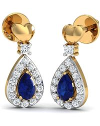 Diamoire Jewels Premium SI3 Diamond Earrings Inspired by Nature Hand-carved in 10kt Yellow Gold lmSk0SV