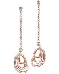 Fei Liu - 18kt Rose Gold Plated Serenity Drop Earrings - Lyst
