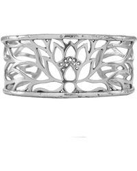 House of Alaia - Lotus Cuff Bracelet In Silver - Lyst