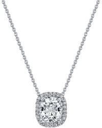 Harry Kotlar - Kotlar Cushion Diamond Solitaire Arabesque Necklace - Lyst