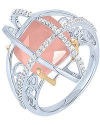 Arya Esha - Gold, Quartz & Diamond Cage Ring   - Lyst