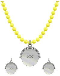 Allumer Sterling Silver Flicker Of Light Necklace Xx - Metallic