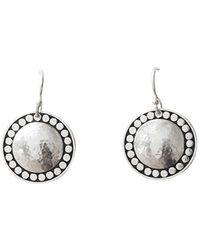 Murkani Jewellery Sterling Silver Marrakech Hanging Disc Earrings - Metallic