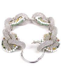 Tove Rygg Goddess Link Agate Bracelet - Green