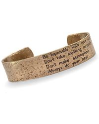 House of Alaia - Four Agreements Reminder Cuff In Bronze Large - Lyst