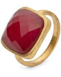 Donatella Balsamo Amazonia Cushion Cut Ring - Red Quartz