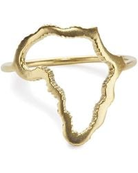 Black Betty Design - The Gold Plated Africa Ring - Lyst
