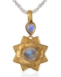 Emma Chapman Jewels Lyra Moonstone Pendant - White
