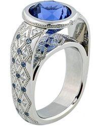 Zoltan David - Blue Zircon Platinum Ring - Lyst