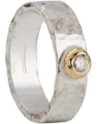 Kate Chell Jewellery - Hammered Diamond Ring - Lyst