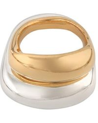 Corinne Hamak Yellow Gold Plated Sterling Silver Unity Small Ring - Metallic