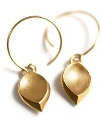 ileava jewelry - Gold Hanna Hanging Petal Earrings   - Lyst