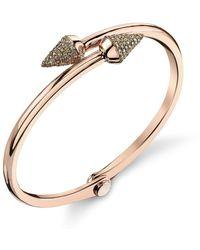 Borgioni Small Spike Handcuff In Rose Gold - Metallic