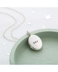 Posh Totty Designs Personalised Message Locket Necklace - Multicolour