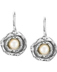 Joseph Lamsin Jewellery - Cornish Double Cup Sterling Silver Designer Handmade Pearl Earrings - Lyst