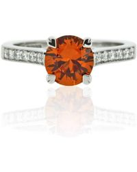 Flawless Jewellery - Aphrodite Ring - Orange Sapphire - Lyst