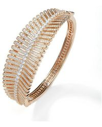 Lustre of London - Rose Feather Bangle - Lyst