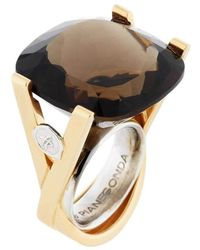 Franco Piane Designed By Franco Pianegonda Luminosity Yellow Gold Ring - Metallic