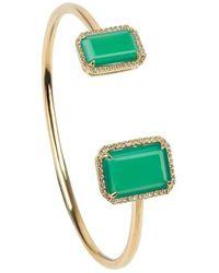 Emily Mortimer Jewellery - Electra Gold Chrysoprase Bangle - Lyst