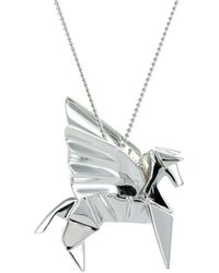 Origami Jewellery Sterling Silver Pegaze Necklace Vucer
